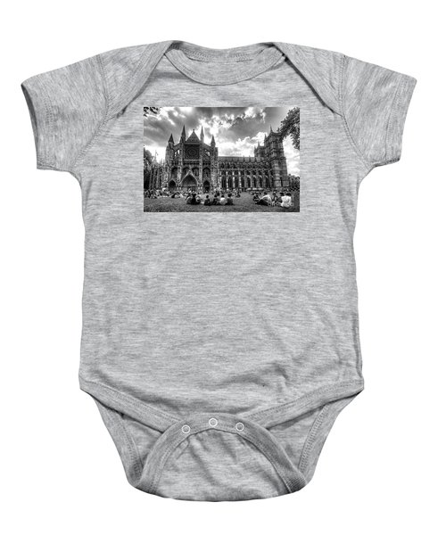 Westminster Abbey Mono Baby Onesie by Rob Hawkins