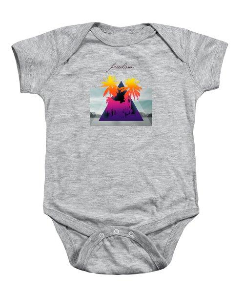 Freedom  Baby Onesie by Mark Ashkenazi