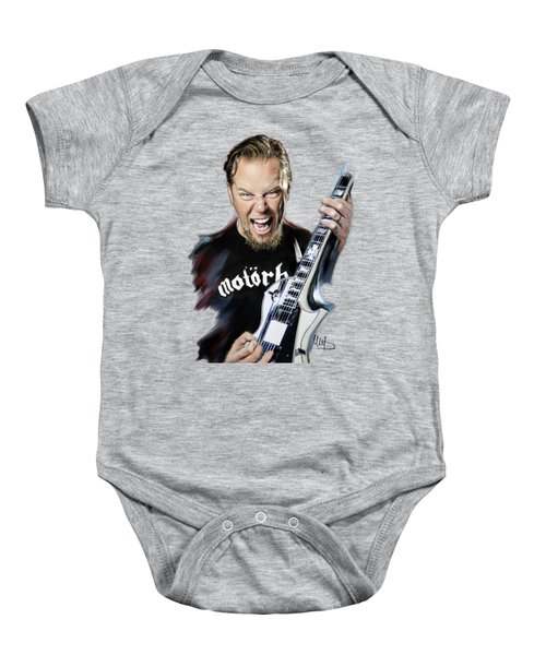 James Hetfield Baby Onesie by Melanie D