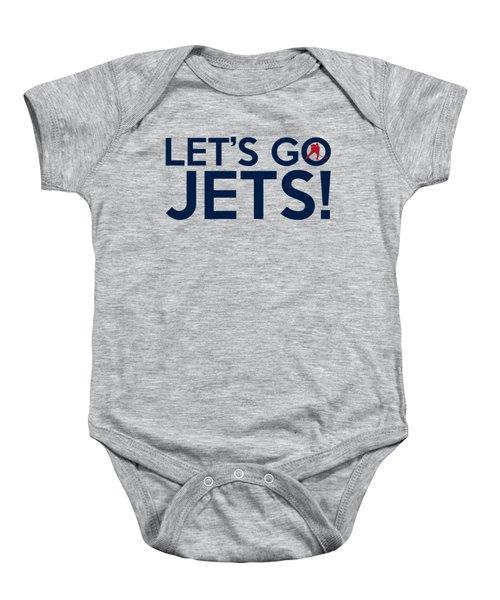 Let's Go Jets Baby Onesie by Florian Rodarte