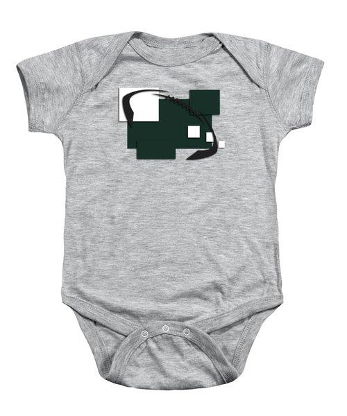 New York Jets Abstract Shirt Baby Onesie by Joe Hamilton
