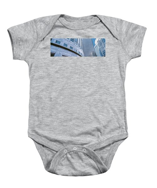 Skyscrapers In A City, Canary Wharf Baby Onesie by Panoramic Images