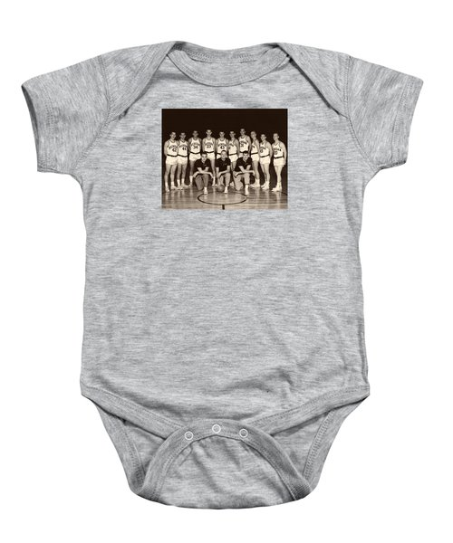 University Of Michigan Basketball Team 1960-61 Baby Onesie by Mountain Dreams