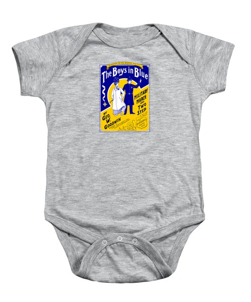 1901 The Boys In Blue, The Boston Police Baby Onesie by Historic Image