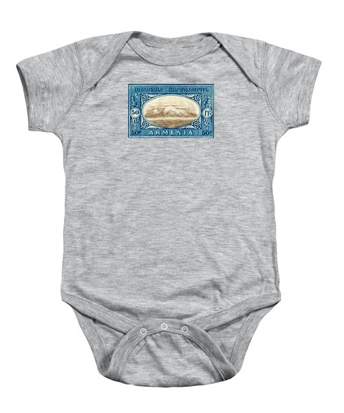 1920 Armenian Mount Ararat Stamp Baby Onesie by Historic Image