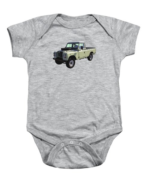 1971 Land Rover Pickup Truck Baby Onesie by Keith Webber Jr
