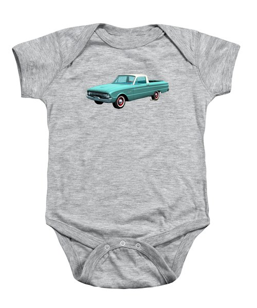 2nd Generation Falcon Ranchero 1960 Baby Onesie by Chas Sinklier