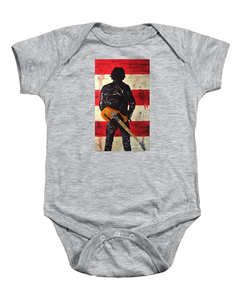 Bruce Springsteen Baby Onesie by Francesca Agostini