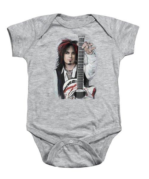 Nikki Sixx Baby Onesie by Melanie D