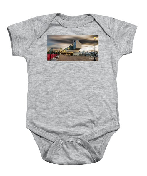 Rock And Roll Hall Of Fame Baby Onesie by James Dean