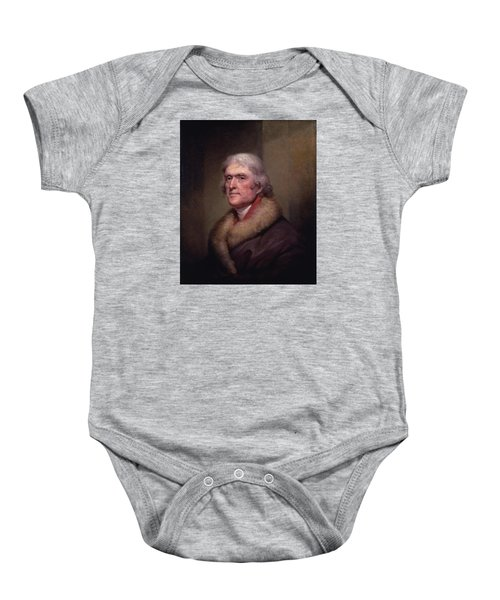 President Thomas Jefferson Baby Onesie by War Is Hell Store
