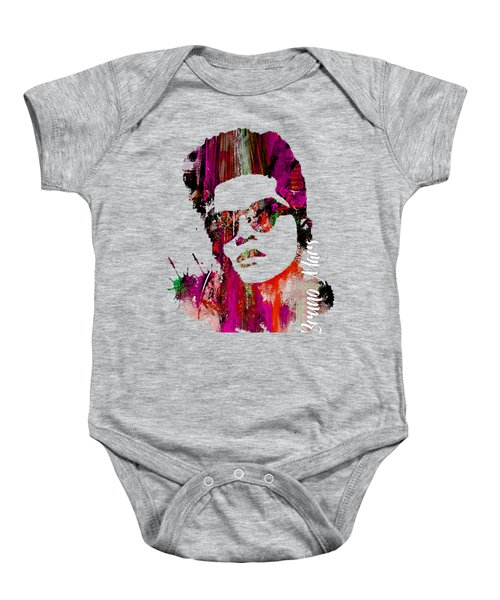 Bruno Mars Collection Baby Onesie by Marvin Blaine