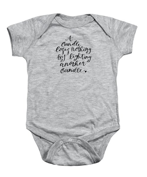 A Candle Baby Onesie by Nancy Ingersoll