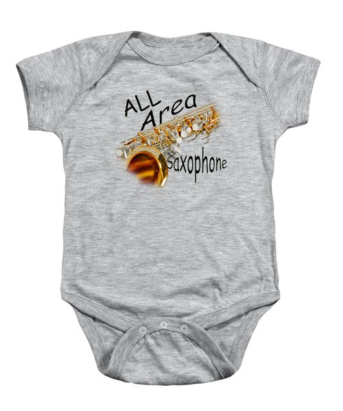 All Area Saxophone Baby Onesie by M K  Miller