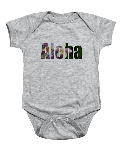 Aloha Orchids Type Baby Onesie by Kerri Ligatich