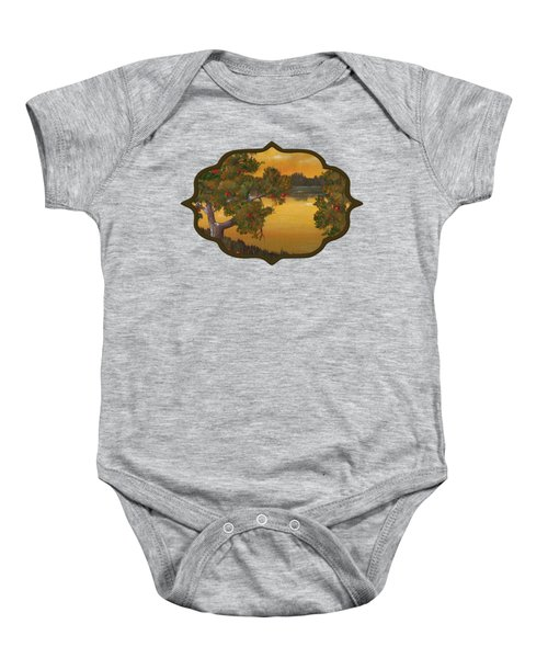 Apple Sunset Baby Onesie by Anastasiya Malakhova
