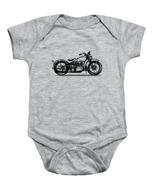 Harley Davidson 1933 Baby Onesie by Mark Rogan