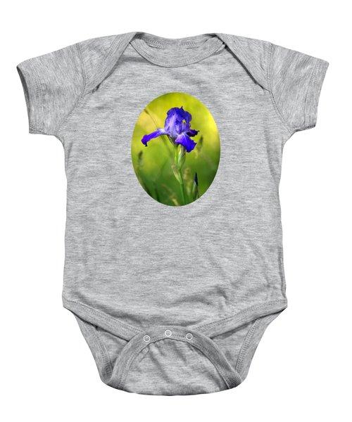 Violet Iris Baby Onesie by Christina Rollo