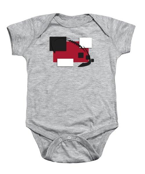 Atlanta Falcons Abstract Shirt Baby Onesie by Joe Hamilton