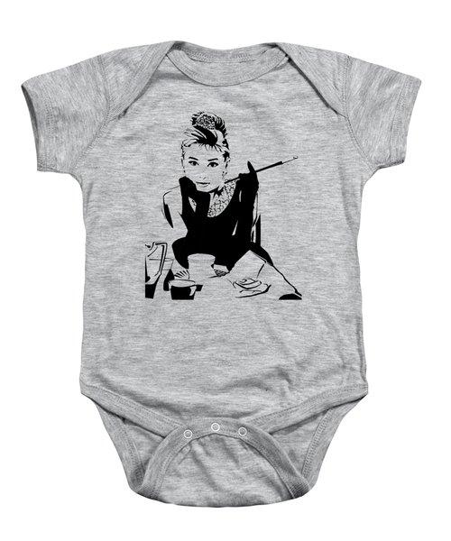 Audrey Hepburn Baby Onesie by Ryan Burton