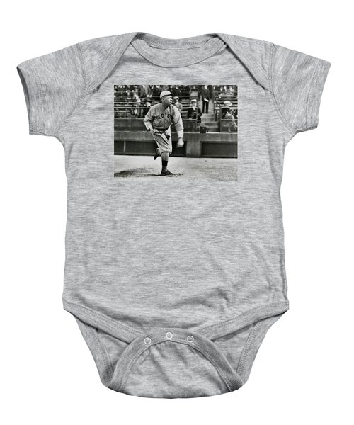 Babe Ruth - Pitcher Boston Red Sox  1915 Baby Onesie by Daniel Hagerman