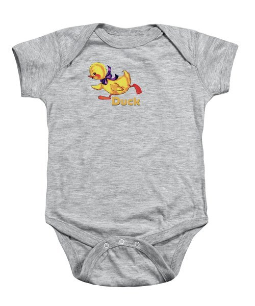Baby Duckling And Eggs Pattern Baby Onesie by Tina Lavoie
