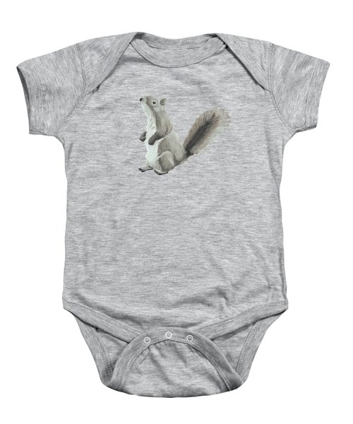 Baby Squirrel Baby Onesie by Dominic White