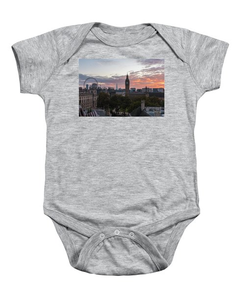 Big Ben London Sunrise Baby Onesie by Mike Reid