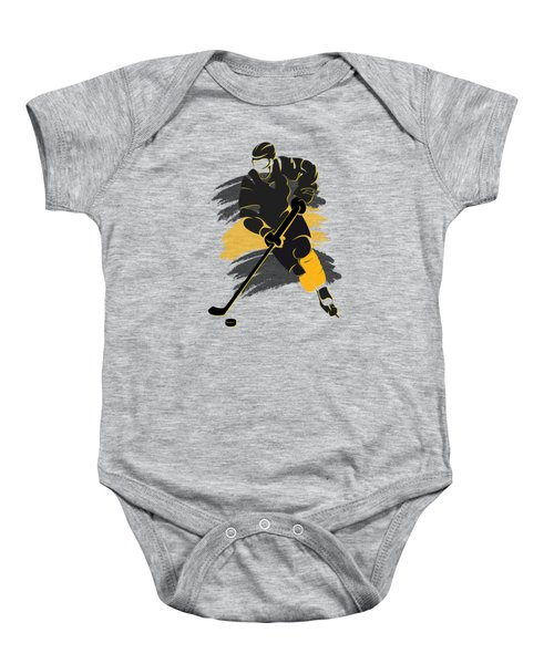 Boston Bruins Player Shirt Baby Onesie by Joe Hamilton
