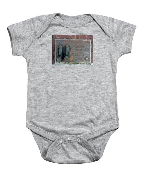 Boston Celtics Larry Bird Baby Onesie by Gina Sullivan