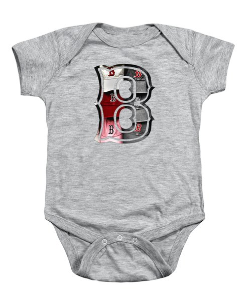 Boston Red Sox B Logo Baby Onesie by Joann Vitali