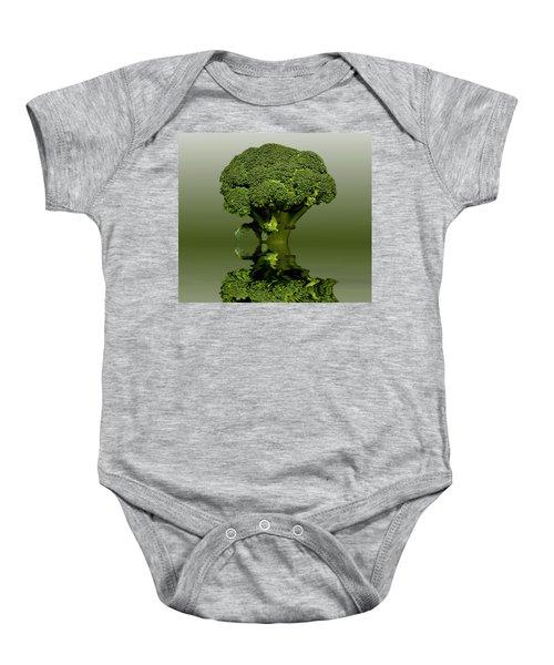 Broccoli Green Veg Baby Onesie by David French