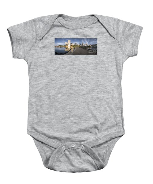 Cleveland Panorama Baby Onesie by James Dean