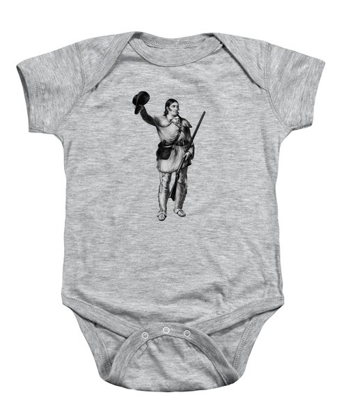 Colonel Davy Crockett Baby Onesie by War Is Hell Store