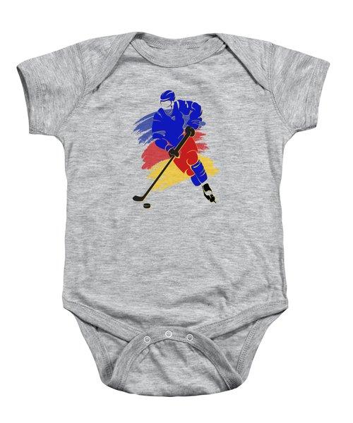 Colorado Rockies Player Shirt Baby Onesie by Joe Hamilton