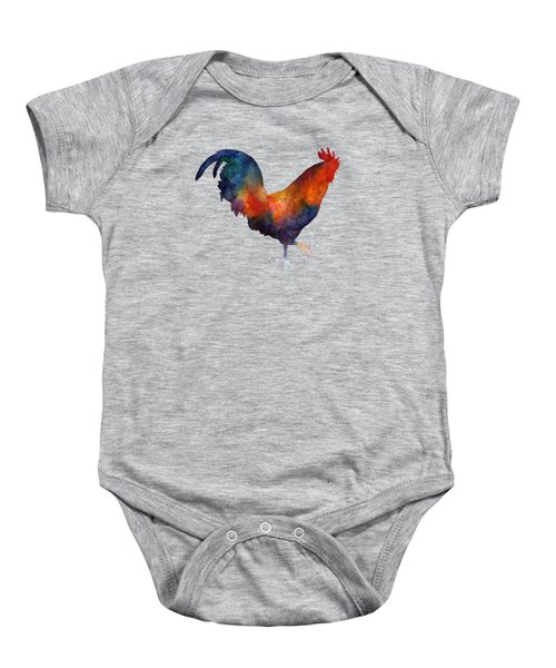 Colorful Rooster Baby Onesie by Hailey E Herrera