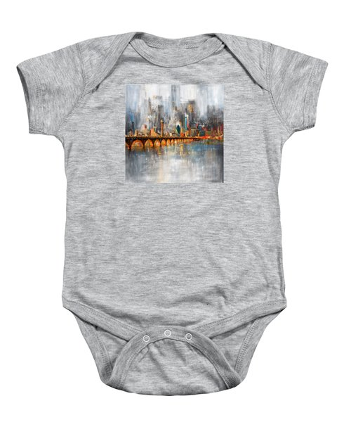 Dallas Skyline 217 1 Baby Onesie by Mawra Tahreem