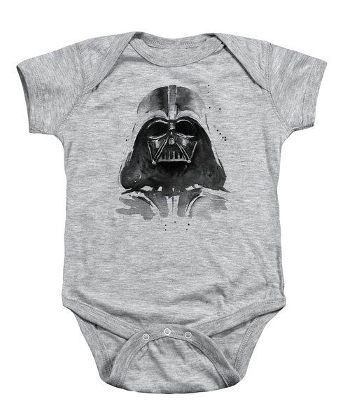 Darth Vader Watercolor Baby Onesie by Olga Shvartsur