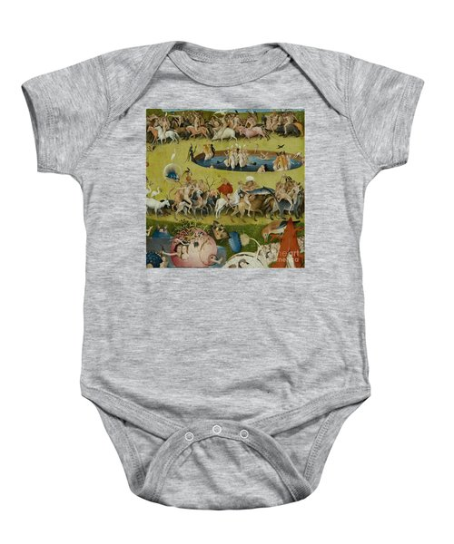 Detail From The Central Panel Of The Garden Of Earthly Delights Baby Onesie by Hieronymus Bosch