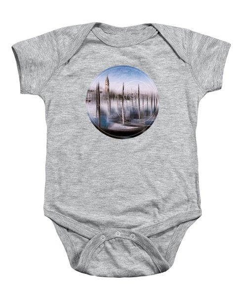 Digital-art Venice Grand Canal And St Mark's Campanile Baby Onesie by Melanie Viola