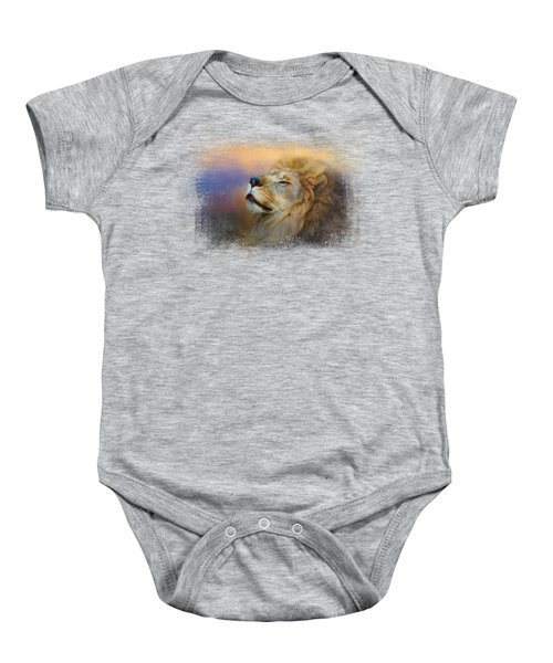 Do Lions Go To Heaven? Baby Onesie by Jai Johnson