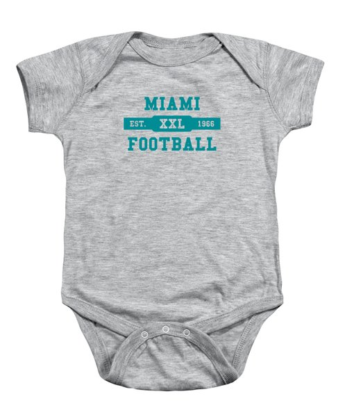 Dolphins Retro Shirt Baby Onesie by Joe Hamilton