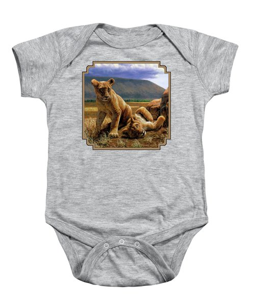Double Trouble Baby Onesie by Crista Forest