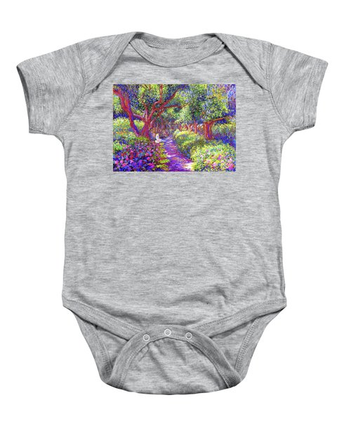 Dove And Healing Garden Baby Onesie by Jane Small