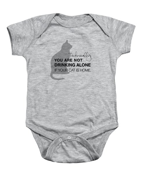 Drinking With Cats Baby Onesie by Nancy Ingersoll
