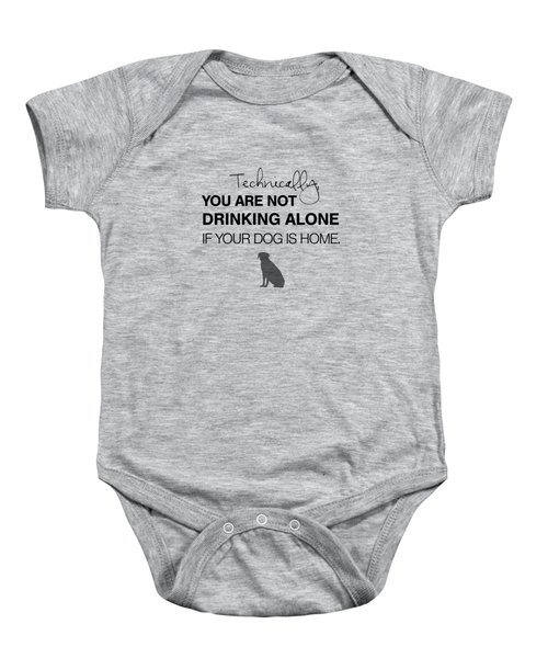 Drinking With Dogs Baby Onesie by Nancy Ingersoll