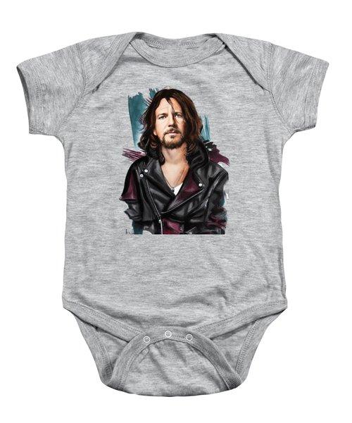 Eddie Vedder Baby Onesie by Melanie D