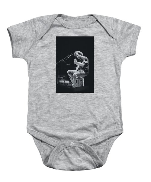 Eddie Vedder Playing Live Baby Onesie by Marco Oliveira