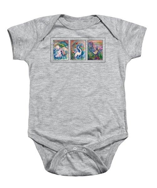Egret Series Baby Onesie by Robin Monroe