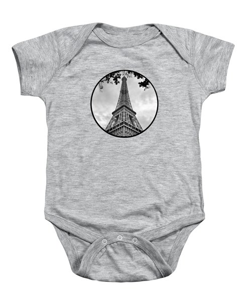 Eiffel Tower - Transparent Baby Onesie by Nikolyn McDonald